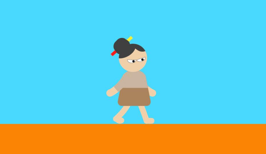 歩くキャラクター